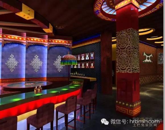 蒙古风格设计 酒吧图