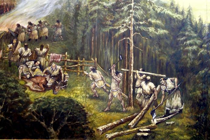 蒙古历史长卷系列油画