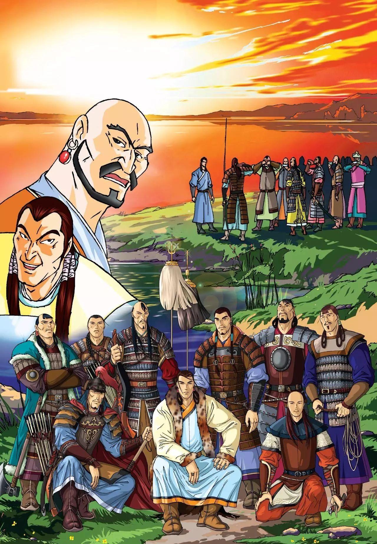 画《成吉思汗》的蒙古国卡通绘本漫画家 第2张