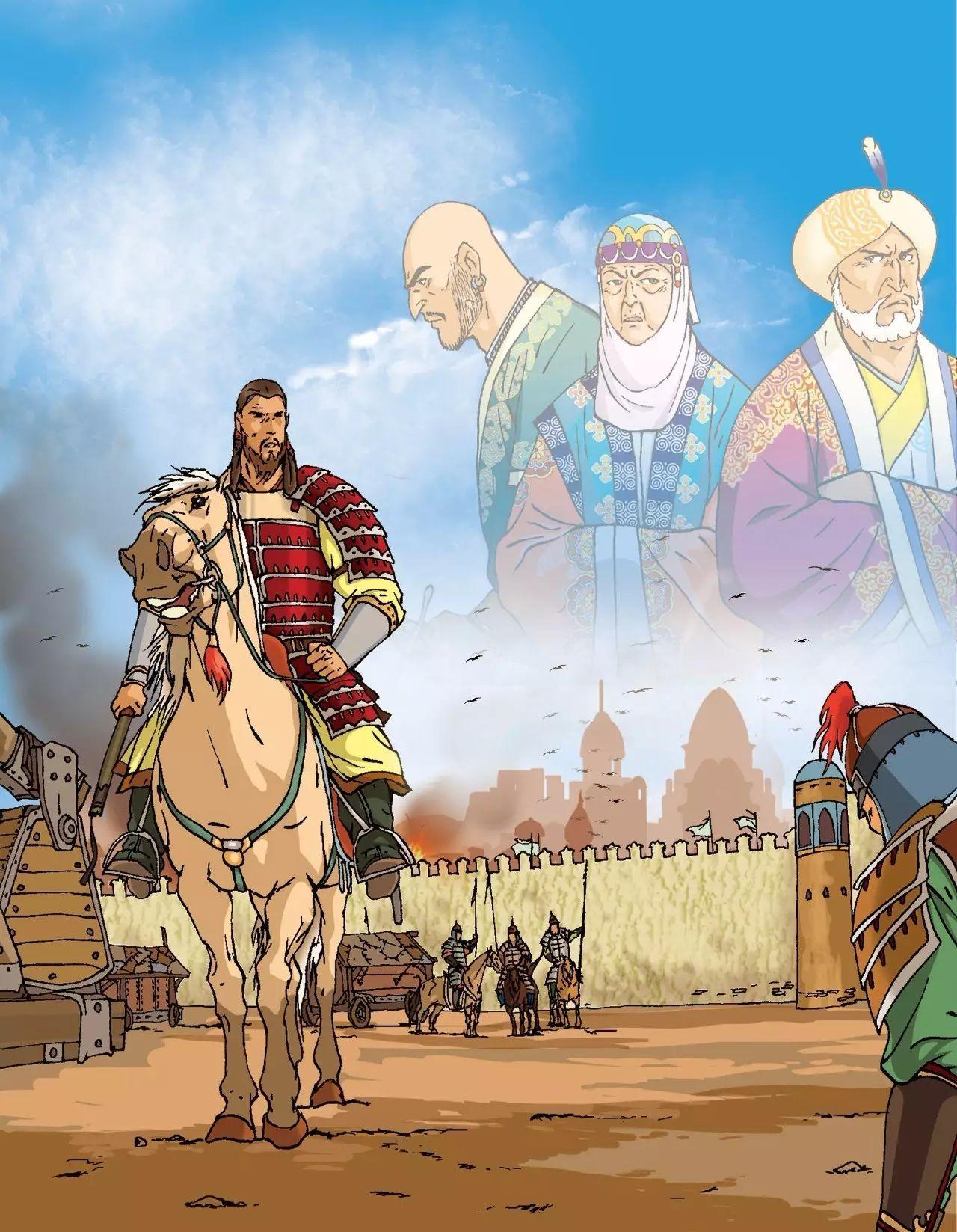画《成吉思汗》的蒙古国卡通绘本漫画家 第4张
