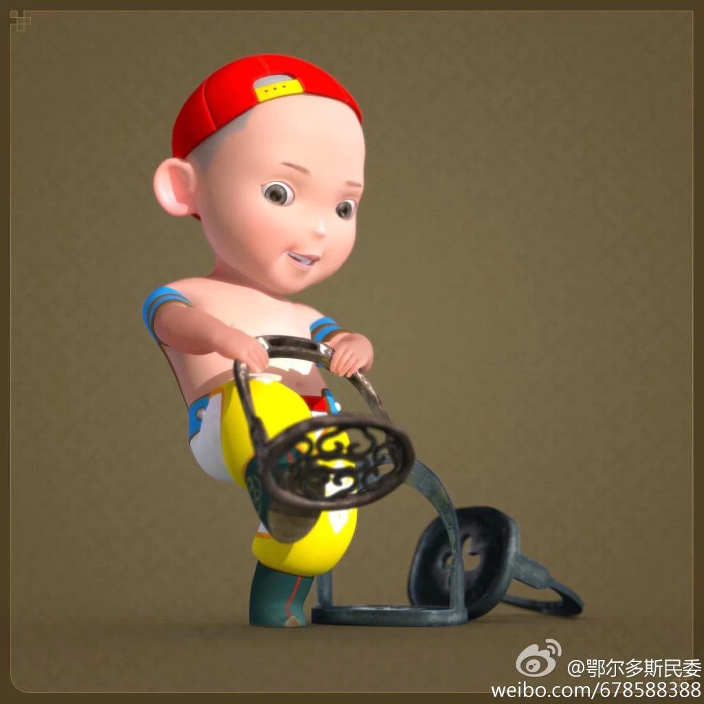 【民族卡通】超可爱的蒙古宝贝 —— 他叫ordos mongol boy 第4张