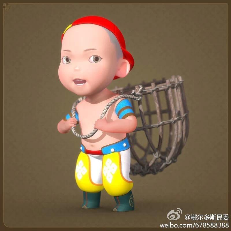 【民族卡通】超可爱的蒙古宝贝 —— 他叫ordos mongol boy 第8张