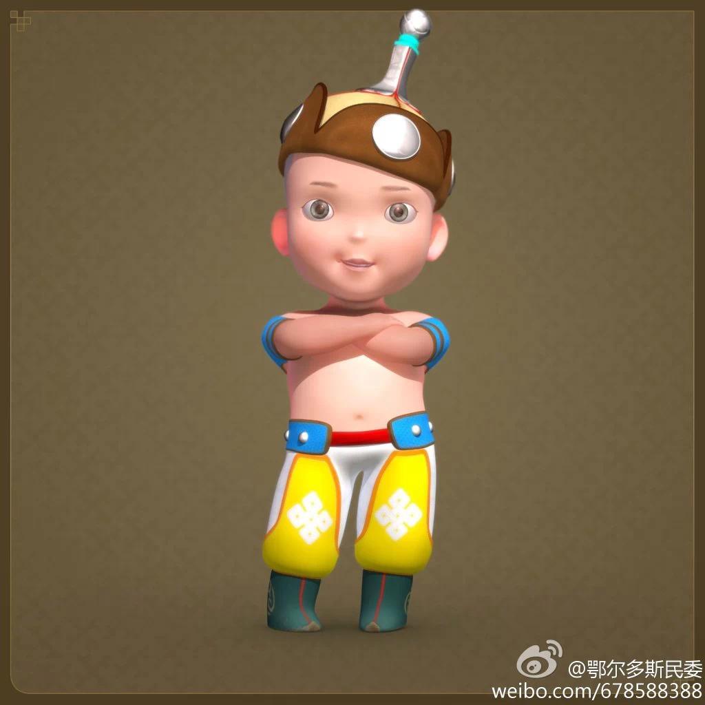 【民族卡通】超可爱的蒙古宝贝 —— 他叫ordos mongol boy 第6张