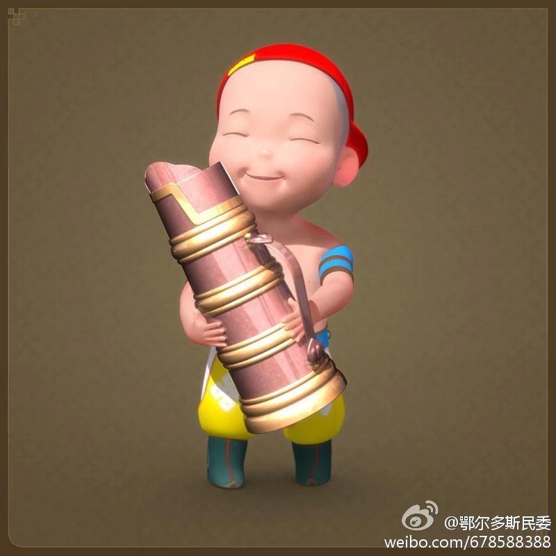 【民族卡通】超可爱的蒙古宝贝 —— 他叫ordos mongol boy 第7张