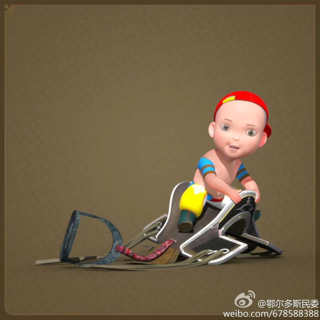 【民族卡通】超可爱的蒙古宝贝 —— 他叫ordos mongol boy 第5张