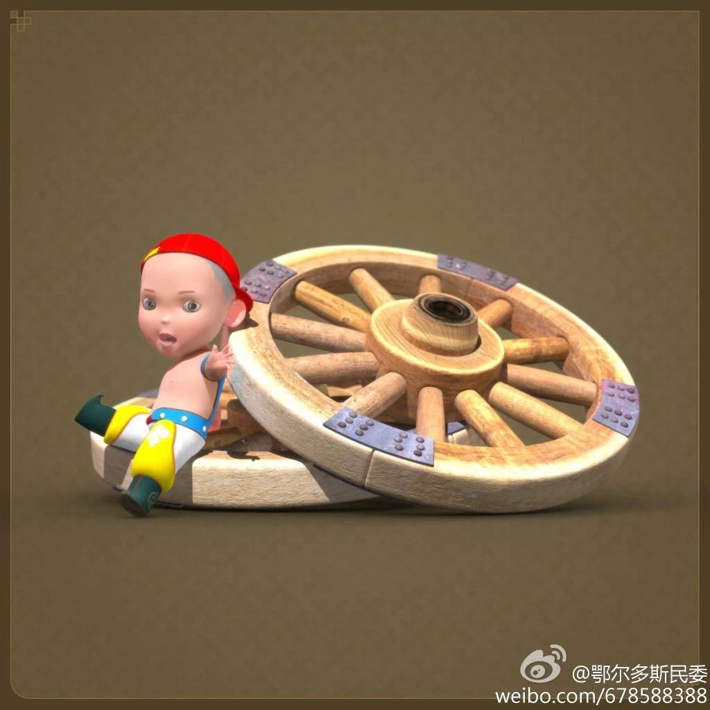 【民族卡通】超可爱的蒙古宝贝 —— 他叫ordos mongol boy 第11张