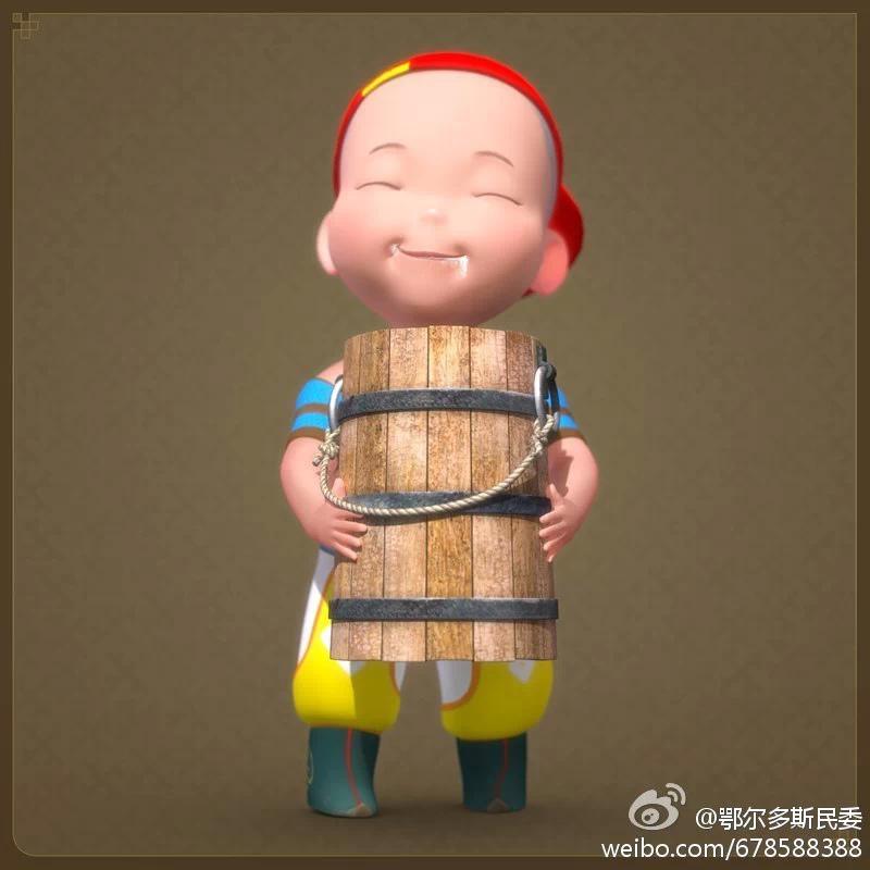 【民族卡通】超可爱的蒙古宝贝 —— 他叫ordos mongol boy 第13张