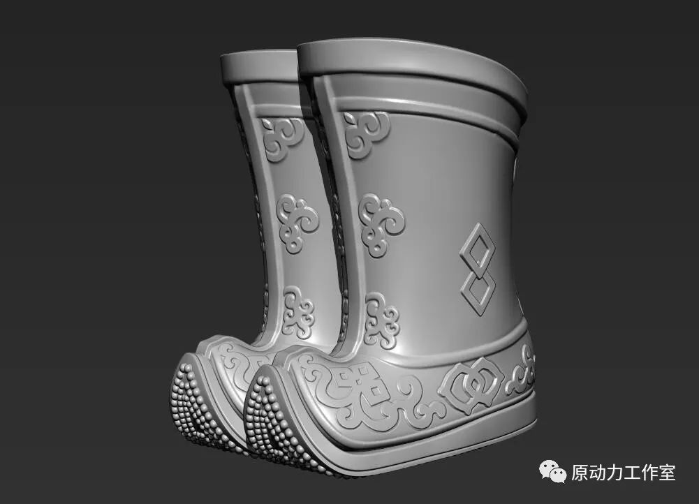 模型中级篇01—蒙古长靴 第1张