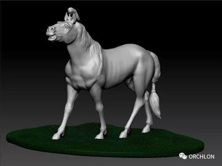 蒙古赛马3D模型作品! 第2张