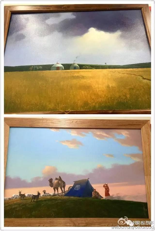 【美图】蒙古画家都仁图古斯作品欣赏