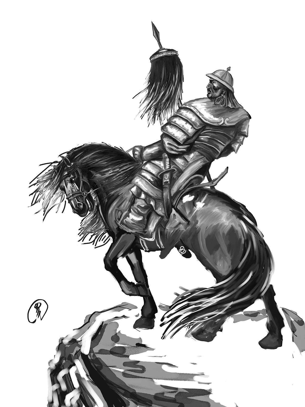 蒙古人物CG插图 第2张