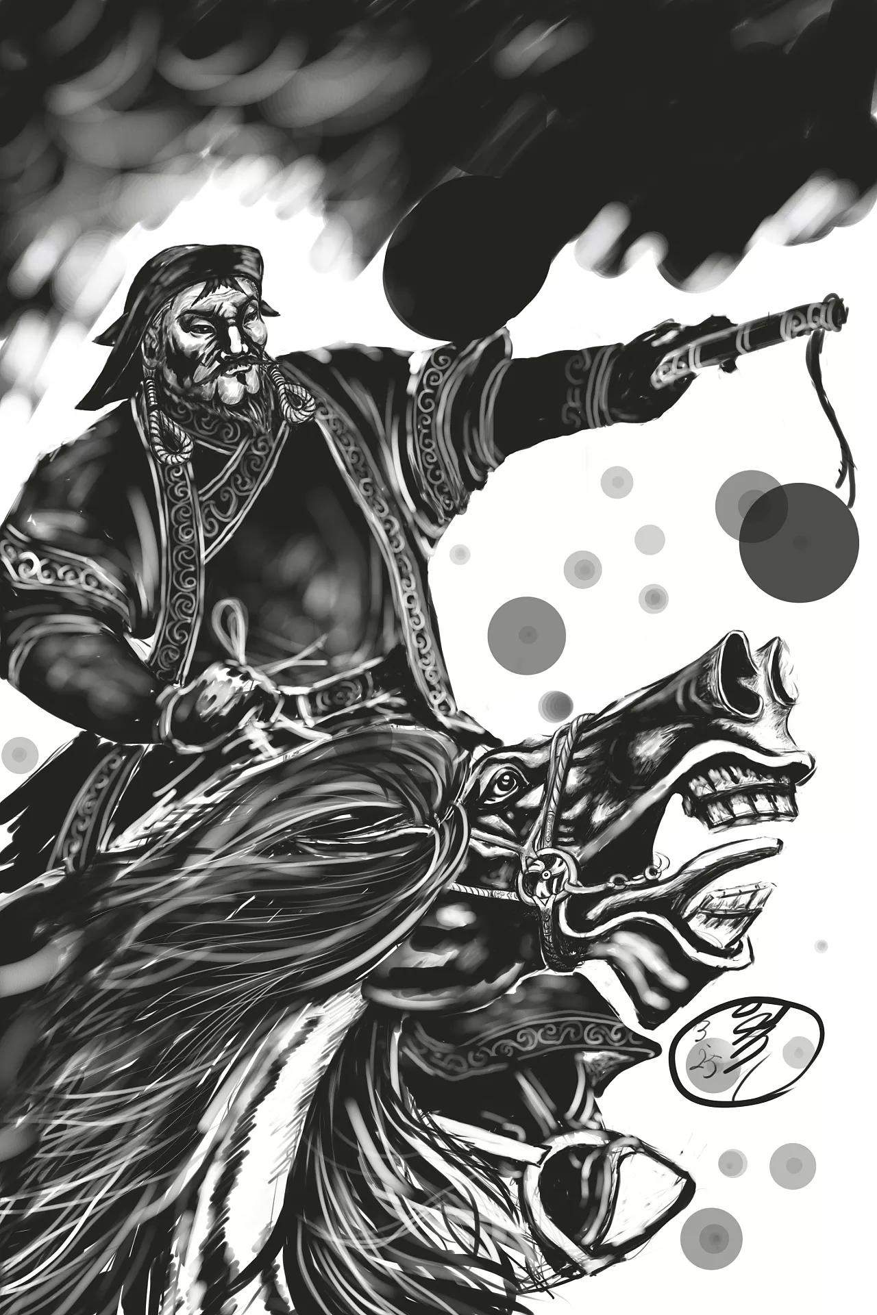 蒙古人物CG插图 第3张