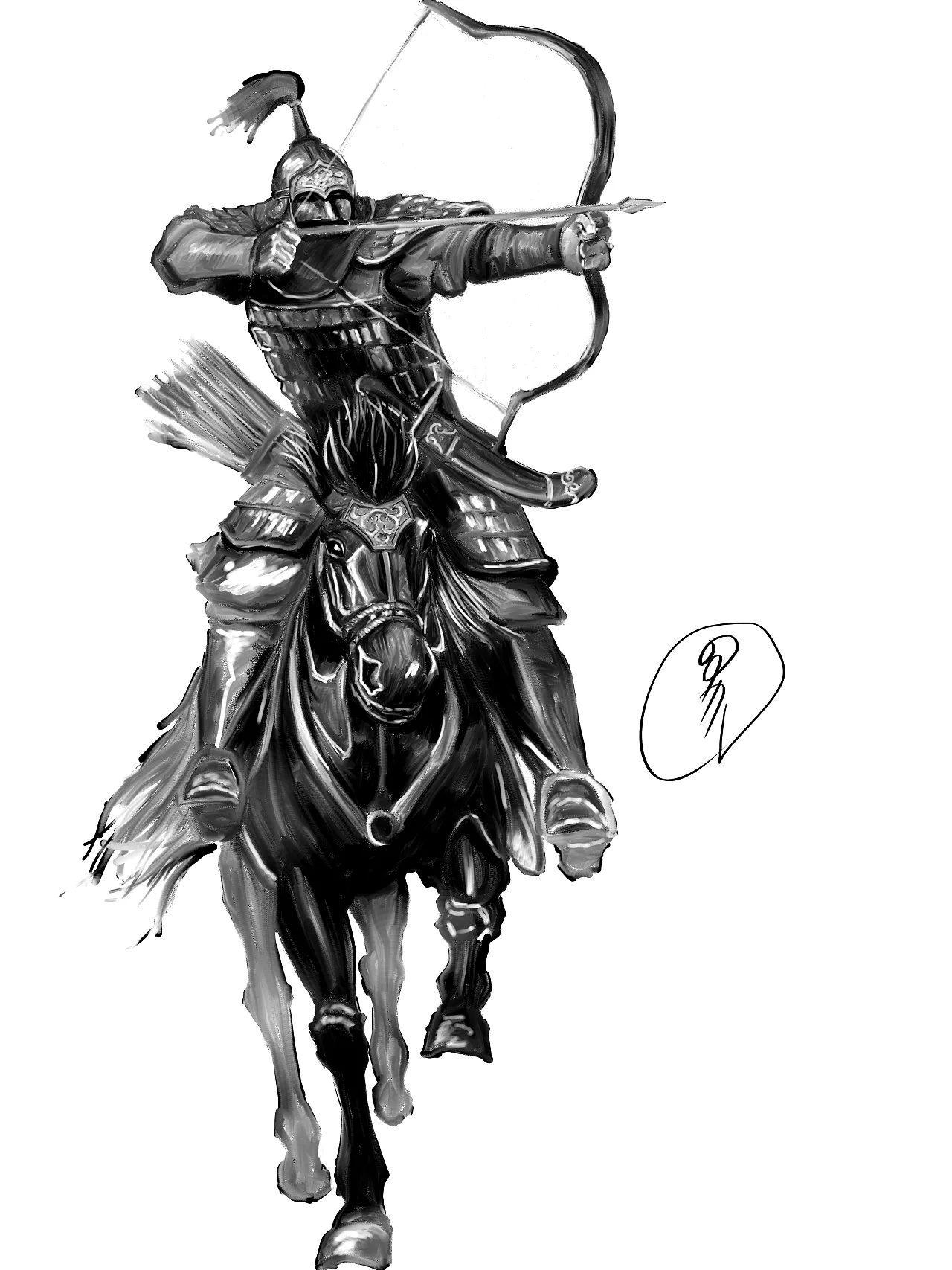 蒙古人物CG插图 第4张