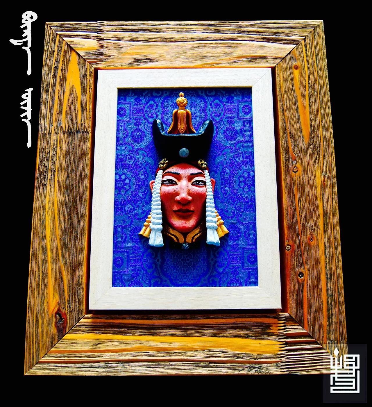 蒙古人物头像工艺装饰品 第1张