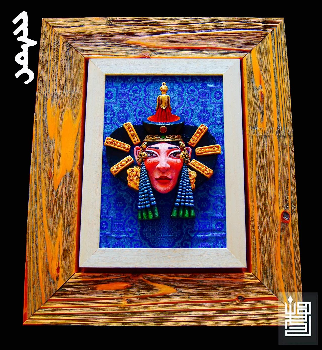 蒙古人物头像工艺装饰品 第3张