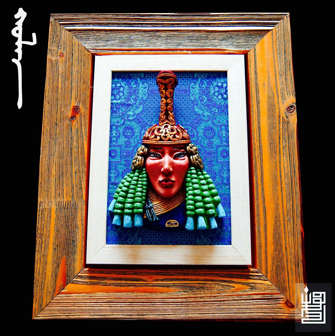 蒙古人物头像工艺装饰品 第4张