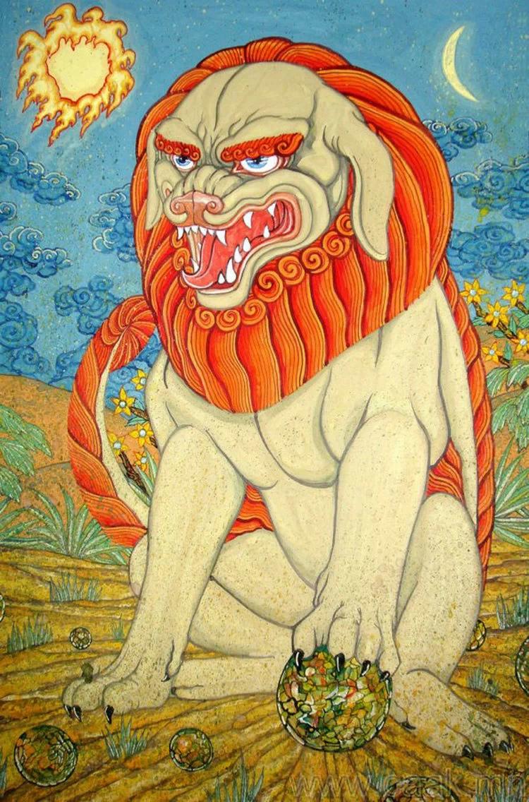 ©◆民族艺术 — 蒙古国布仁额尔敦绘画作品 第9张