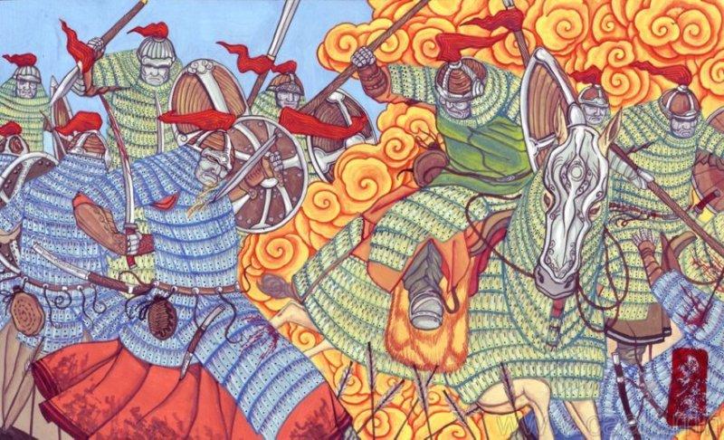 ©◆民族艺术 — 蒙古国布仁额尔敦绘画作品 第12张