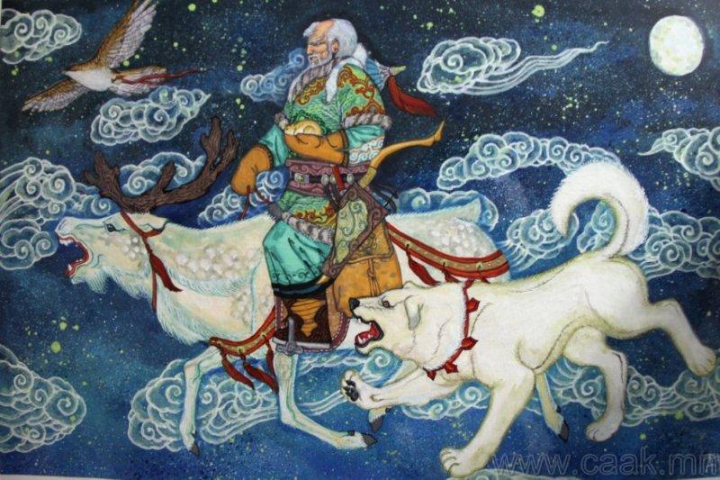 ©◆民族艺术 — 蒙古国布仁额尔敦绘画作品 第13张