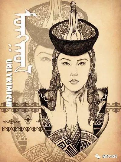 一组有着浓郁蒙古民族风格的插画作品 第3张