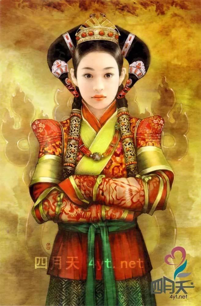 德珍笔下的 蒙古各部落 美女插画 第2张