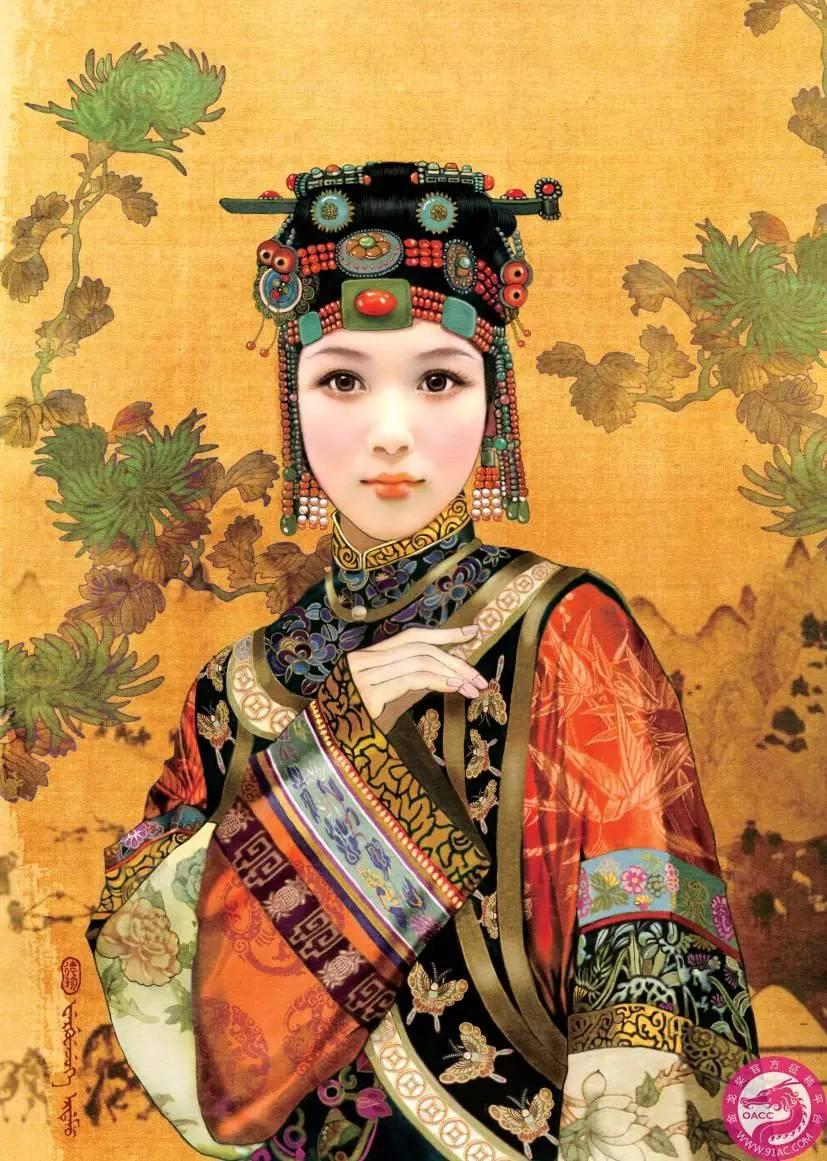 德珍笔下的 蒙古各部落 美女插画 第3张