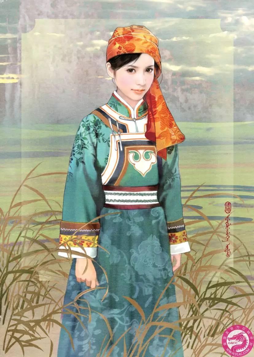 德珍笔下的 蒙古各部落 美女插画 第7张
