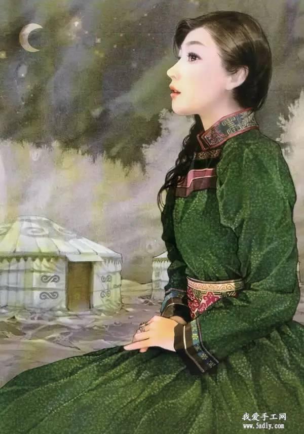 德珍笔下的 蒙古各部落 美女插画 第9张