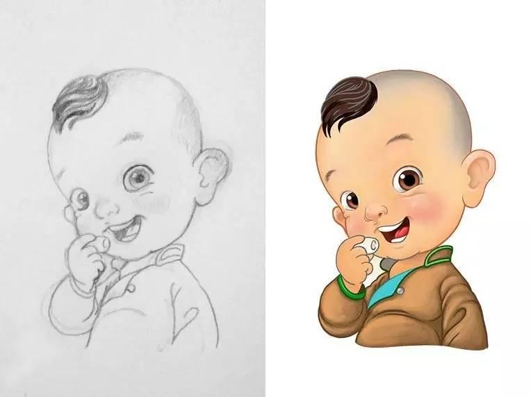插画 | enkhtur bayrsaikhan笔下的蒙古族小孩 第14张
