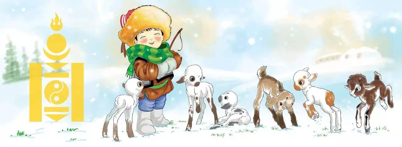 插画 | enkhtur bayrsaikhan笔下的蒙古族小孩 第15张
