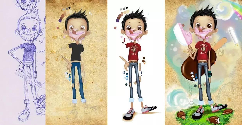 插画 | enkhtur bayrsaikhan笔下的蒙古族小孩 第21张