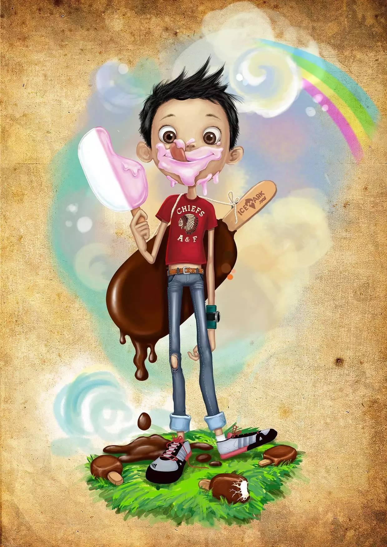 插画 | enkhtur bayrsaikhan笔下的蒙古族小孩 第22张
