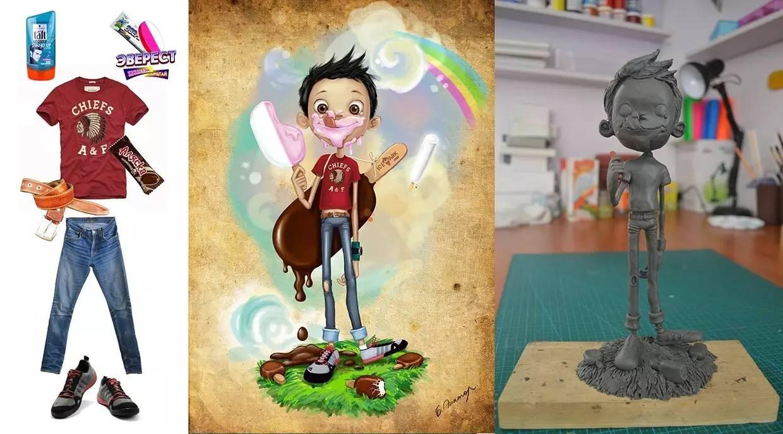 插画 | enkhtur bayrsaikhan笔下的蒙古族小孩 第23张
