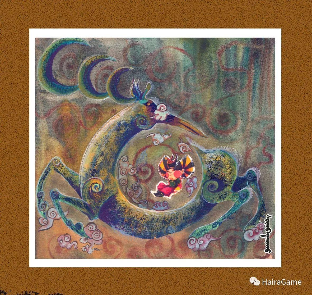 可爱的蒙古宝贝2:诺敏和清赫尔· Surbadarah(原创插画) 第3张