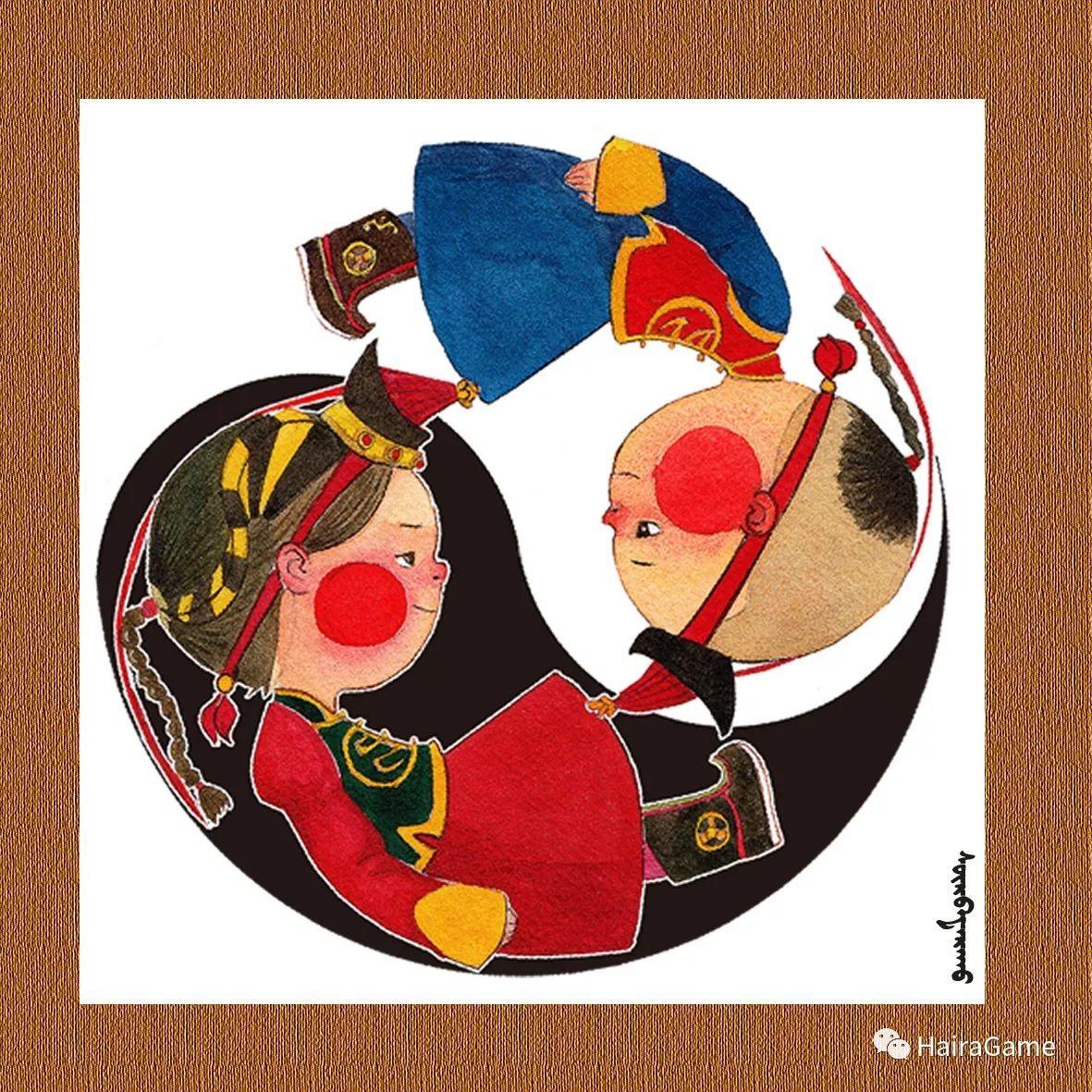 可爱的蒙古宝贝2:诺敏和清赫尔· Surbadarah(原创插画) 第6张