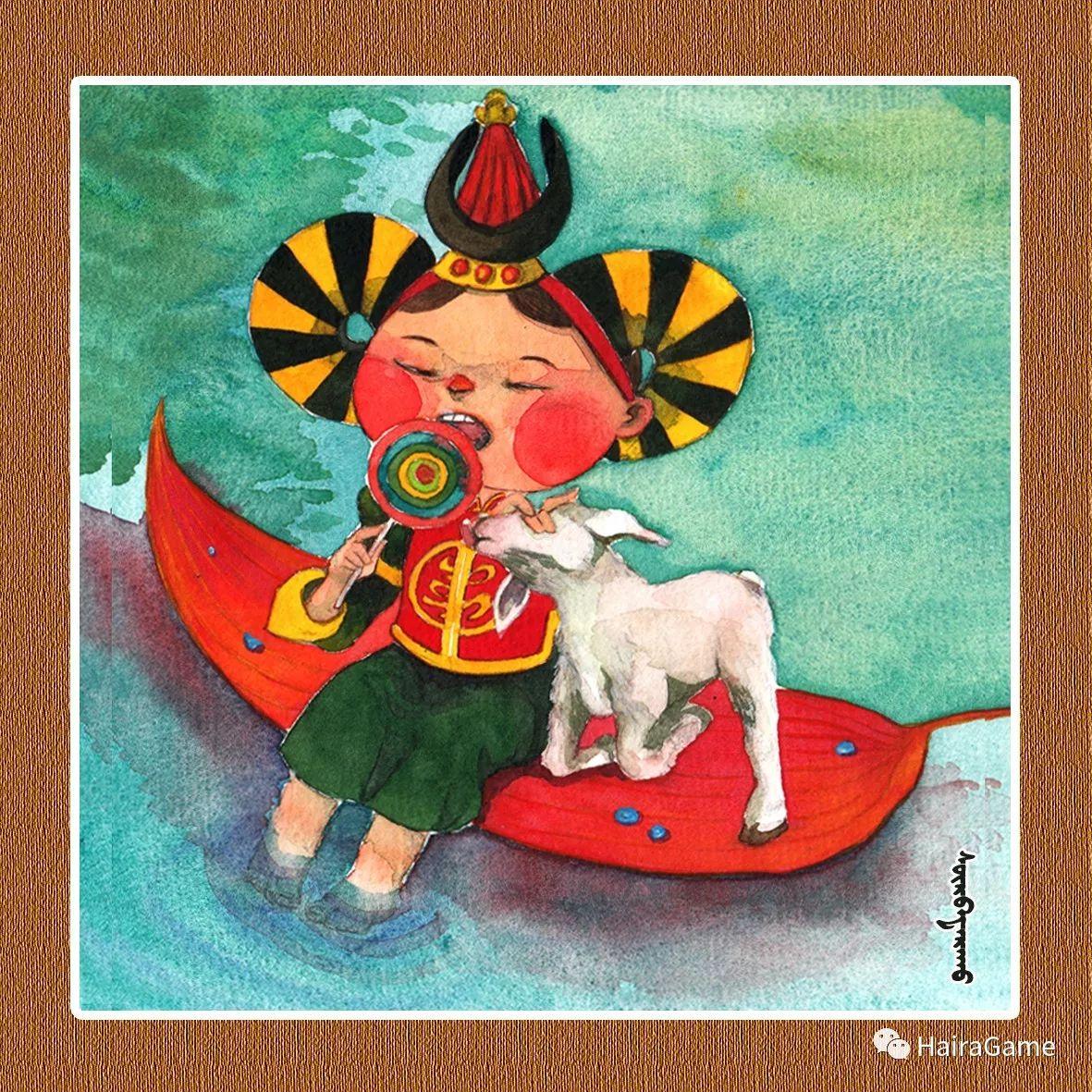 可爱的蒙古宝贝2:诺敏和清赫尔· Surbadarah(原创插画) 第7张