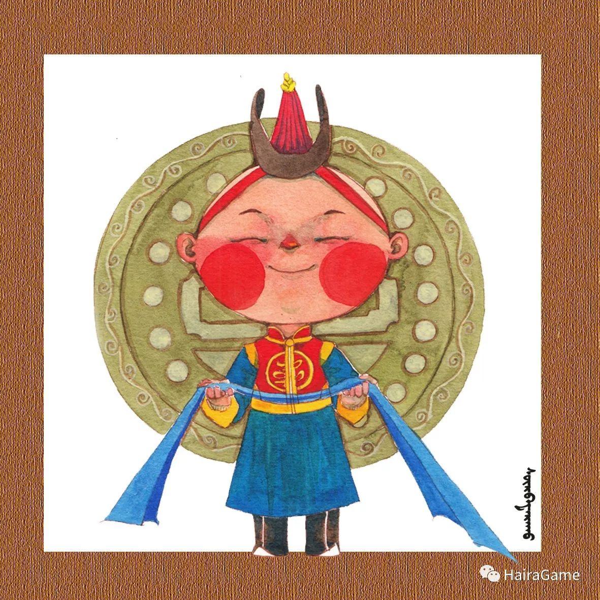 可爱的蒙古宝贝2:诺敏和清赫尔· Surbadarah(原创插画) 第9张