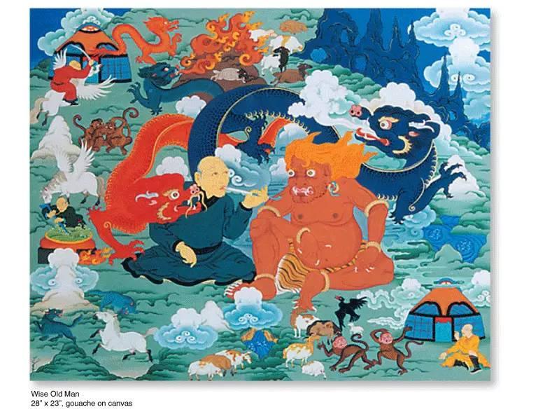 大众艺术网:插画 | 东西文化的融合 —— 旅美蒙古女画家  Solongo Mellecker 插画作品欣赏 第3张