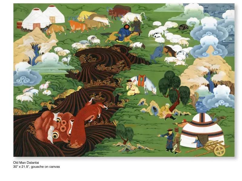大众艺术网:插画 | 东西文化的融合 —— 旅美蒙古女画家  Solongo Mellecker 插画作品欣赏 第5张