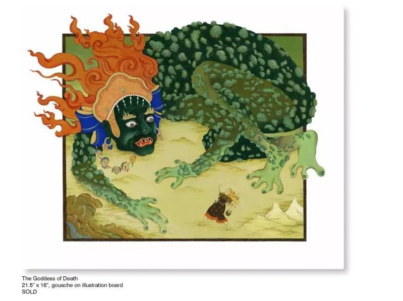 大众艺术网:插画 | 东西文化的融合 —— 旅美蒙古女画家  Solongo Mellecker 插画作品欣赏 第10张
