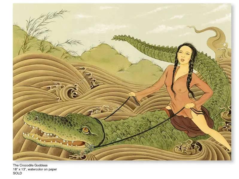 大众艺术网:插画 | 东西文化的融合 —— 旅美蒙古女画家  Solongo Mellecker 插画作品欣赏 第11张