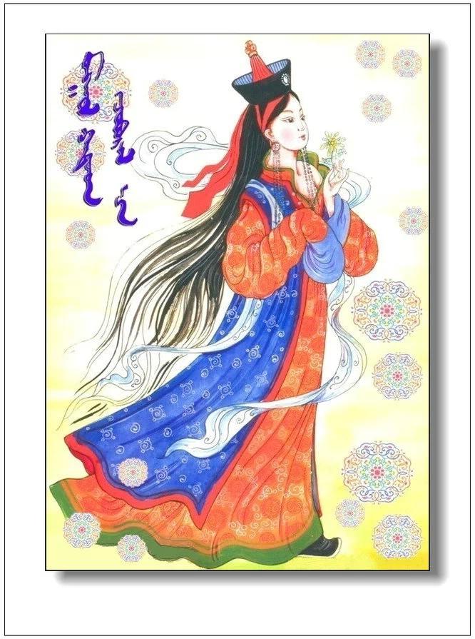 ©◆画中的蒙古美人 — mongol hatad 第3张