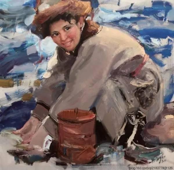 一画|蒙古国著名艺术家 Badam.Otgoo 油画作品 第20张