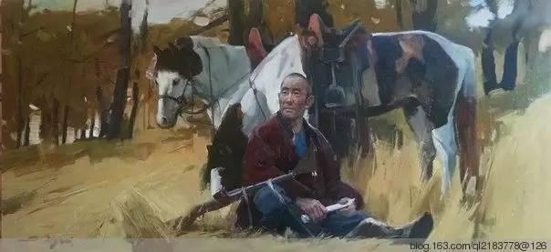 一画|蒙古国著名艺术家 Badam.Otgoo 油画作品 第26张