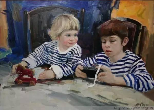 一画|蒙古国著名艺术家 Badam.Otgoo 油画作品 第23张