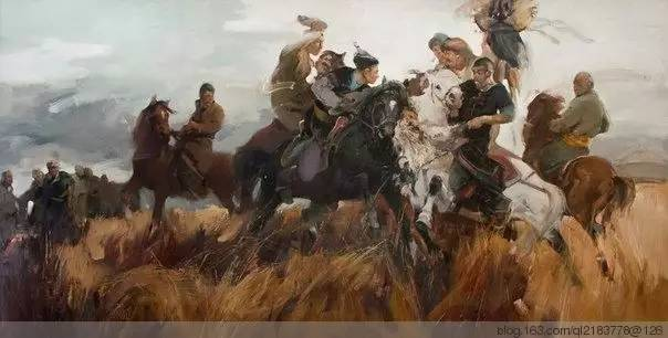 一画|蒙古国著名艺术家 Badam.Otgoo 油画作品 第34张