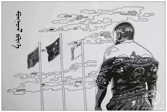 蒙古族绘画高手一组蒙古搏克手钢笔画像 第1张