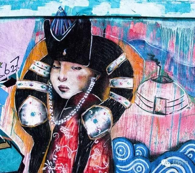 〖欣赏〗蒙古国街道上的绘画艺术 第1张