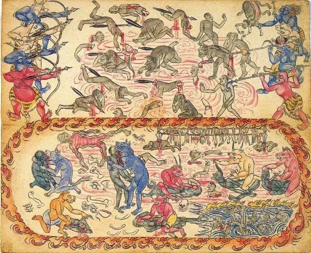 地狱变相图【蒙古绘画】 第3张