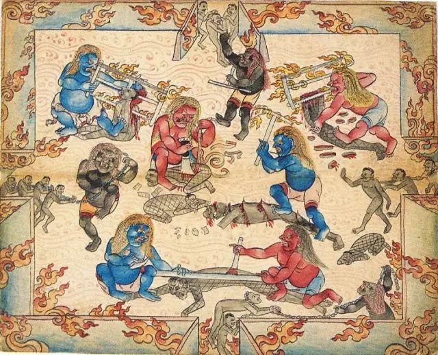 地狱变相图【蒙古绘画】 第4张